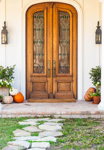 Large, striking front door can be an easy but impactful home improvement project.