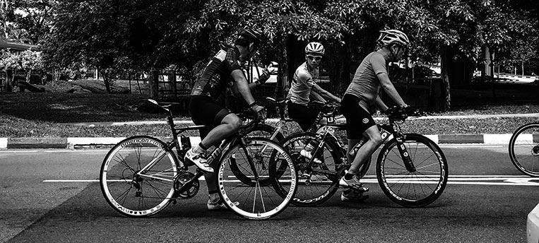 Outdoor Sports Biking with friends